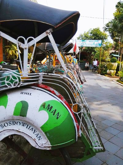 becak.. Traditionaltransportation Indonesiatransport Indonesia_photography Eyeemphotography Indonesian Photographers Collection Travel Photography Wonderful Indonesia Yogayakarta Culture And Tradition Tamansariyogyakarta Backtonature Nature Amusement Park Arts Culture And Entertainment No People Amusement Park Ride EyeEmNewHere Mobility In Mega Cities