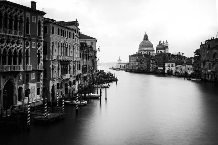 Accademia Architecture Blackandwhite Canale Grande Cityscape Italia Italy Monochrome Travel Destinations Venezia Venice Water