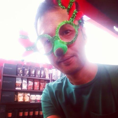 Rudolf ready for Christmas Coffee ☕ Asianman