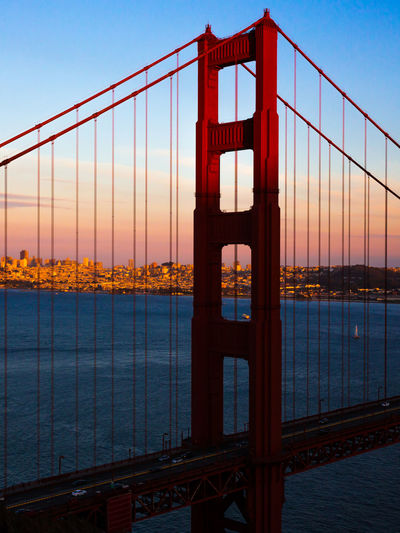 Architecture Bridge Development Dusk Golden Gate Bridge International Landmark Light San Francisco Structure Suspension Bridge Transportation