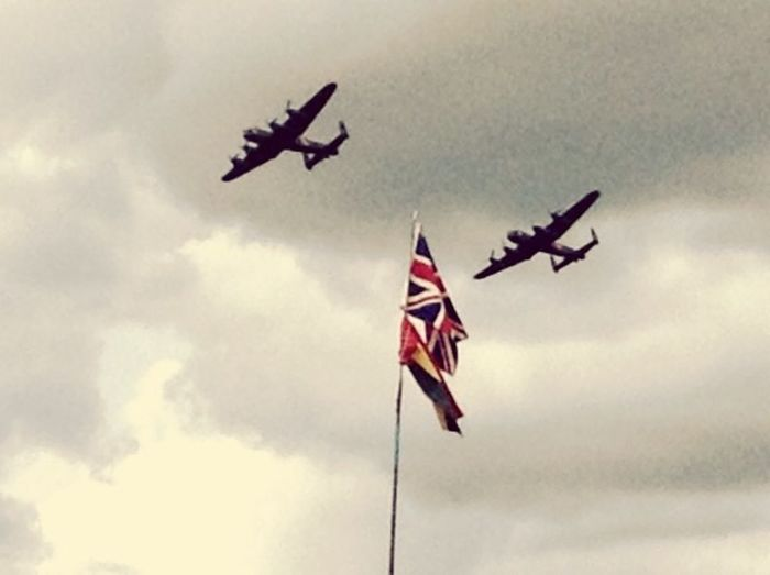 Best Of British Lancaster Duo Victory Flight Dunsfold 2014