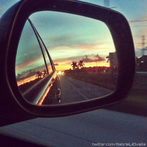 On the road. Car Itsjustaride Sunset