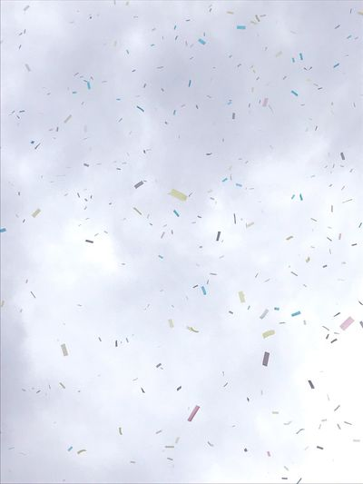 Confetti Full Frame No People Concert Finish Party Sky Grey And Color