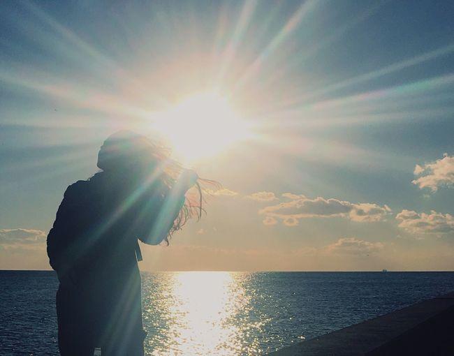 Bestfriend Bff Caddebostan Sun Sunnyday Hair Sea And Sky Sea Blue IPhoneography