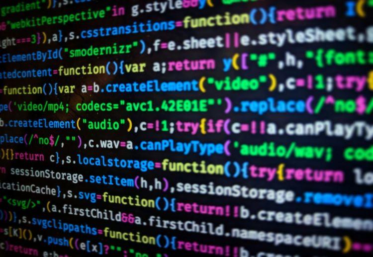 Full frame shot of computer language