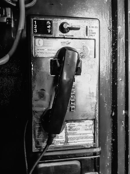 Manhattan New York City Close-up Communication Connection Day Door Indoors  No People Old Phone Old-fashioned Pay Phone Phone Technology Telephone Telephone Receiver