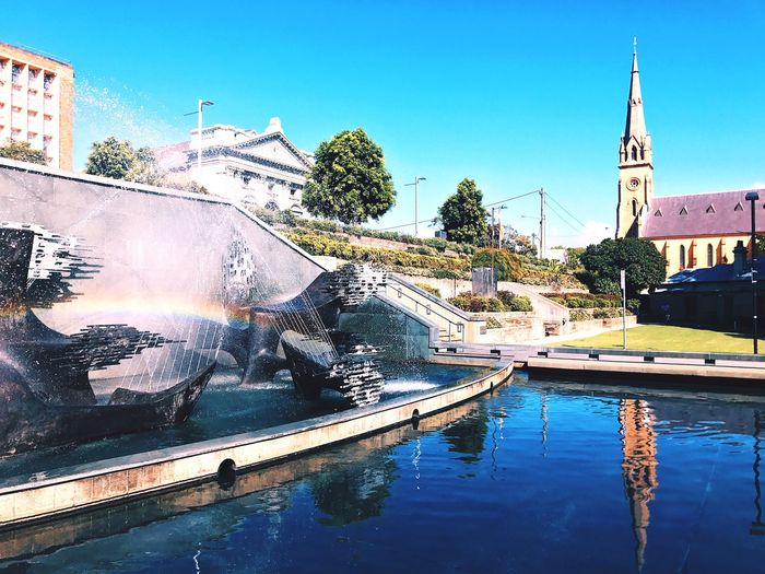 Civic park beauty ☀️🌲 Architecture Built Structure Building Exterior Tree Day Water Outdoors Sunlight No People Clear Sky Blue Nature City Sky Sun Beautiful Australia Beach Life Grass Plant Green Color Beauty In Nature Nature Scenics City Art Is Everywhere