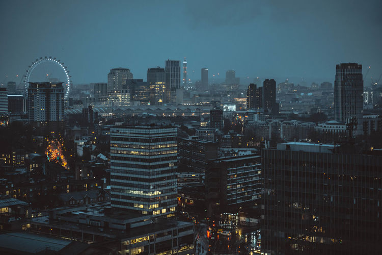 London aerial cityscape