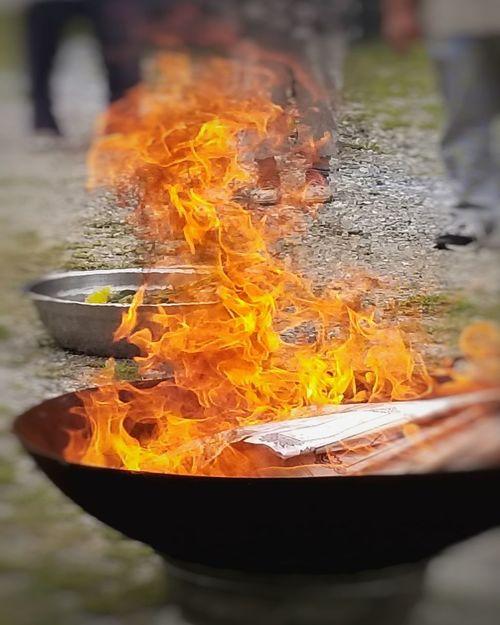 """""""Chendo Che"""" Korean Buddhist Temple Fire Korean Culture Nature Day Flame No People Heat - Temperature Close-up Outdoors Fire - Natural Phenomenon Orange Color"""