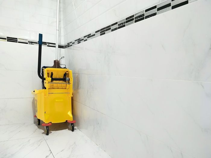 Cleaning Equipment Against White Wall