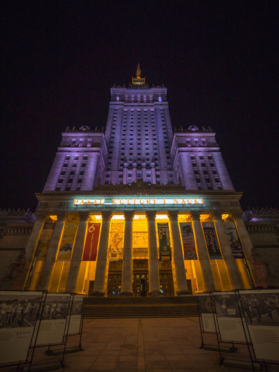 Poland Polska Warsaw Warsaw Old Town Warsaw Poland Warsaw Nights Warszawa  Architecture Building Building Exterior Built Structure Capital Capital Cities  City Façade History Illuminated Low Angle View Night No People Office Building Exterior Poland 💗 Sky Skyscraper Tourism