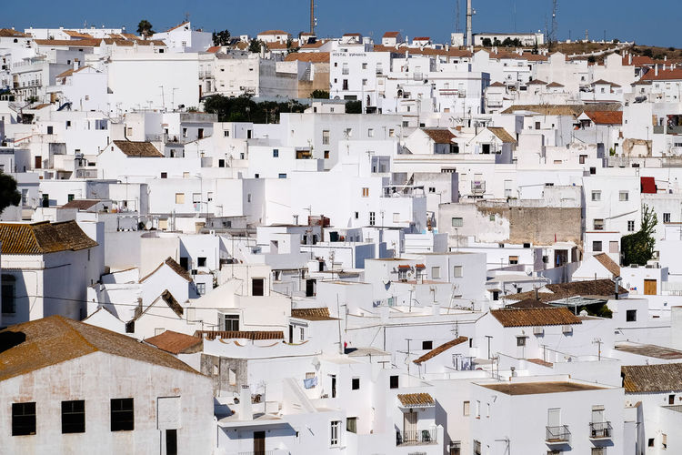 White buildings of vejer de la frontera in andalusia spain
