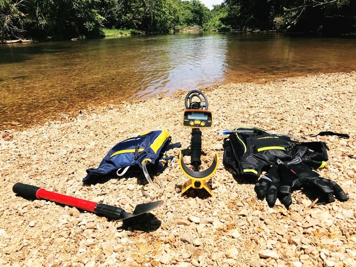 River treasure hunting Day Water Outdoors No People Nature Tree River Metal Detecting Treasure Hunting Seeking Adventure Garrett At EyeEmNewHere