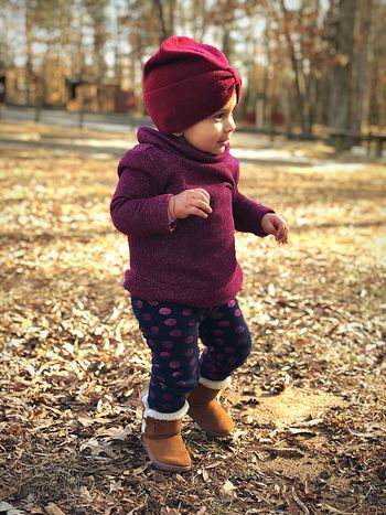 Winter Beauty Roliverophotography Camilaolivero Full Length Childhood Knit Hat Warm Clothing Baby Autumn Babyhood One Person Leaf Outdoors Standing Babies Only Day Tree Playing People Nature Close-up