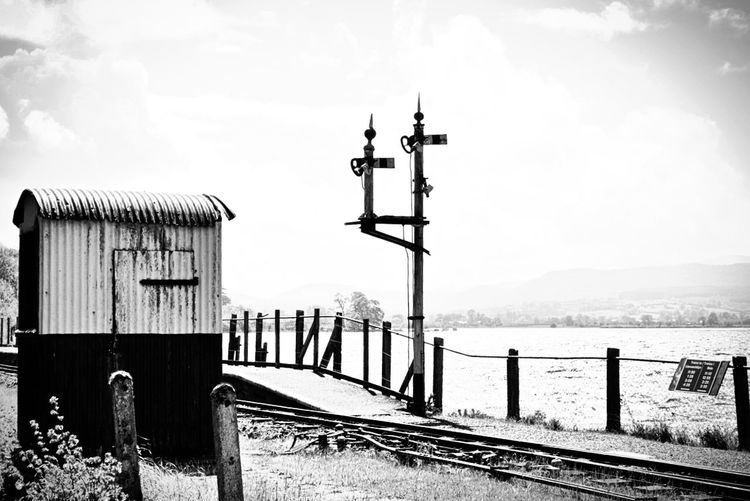Blackandwhite Monochrome Railwaytrack Old Buildings