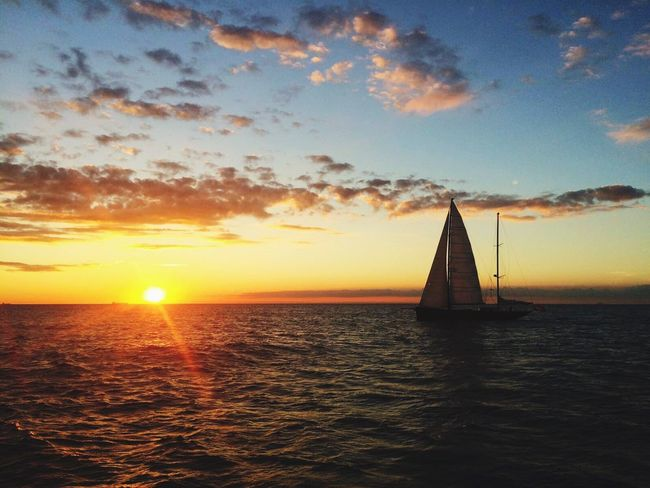 Sunset on the English Channel... Water Englishchannel Sea Peace Sailing Sunset Sunset_collection