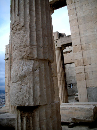 Precarious Acropolis Ancient Ancient Civilization Architectural Column Architecture Architecture Architecture_collection Athens Athens, Greece Built Structure Day Europe Greece History Mediterranean  No People Old Buildings Old Ruin Outdoors Place Of Worship Precarious Sky Stone Travel Travel Destinations