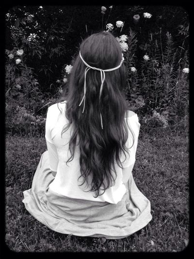 Grunge hippie shooting ?❤️ Hippie Long Hair Outside Grunge First Eyeem Photo