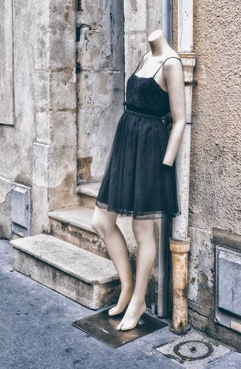 Mannequin Street Photography Nancy Mannequin Model Mannequin EyeEm Selects One Person Real People Lifestyles Day Women Standing Street Adult Casual Clothing Architecture Built Structure Low Section Leisure Activity Sunlight City Building Exterior Outdoors Fashion Wall - Building Feature