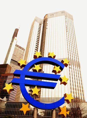 Euro Europe Landmark Money Symbol Europeanunion European Central Bank Signboard Signs Financial District
