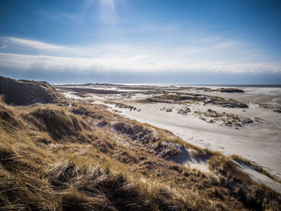Amrum Beach and Dunes and a Ray of Sunshine Amrum Dunes Kniepsand Scenic Beach Beauty In Nature Blue Sky Cloud - Sky Clouds Day Grass Horizon Over Water Landscape Nature No People Outdoors Ray Of Light Sand Dune Scenics Sea Sky Sunshine Tranquil Scene Tranquility Water