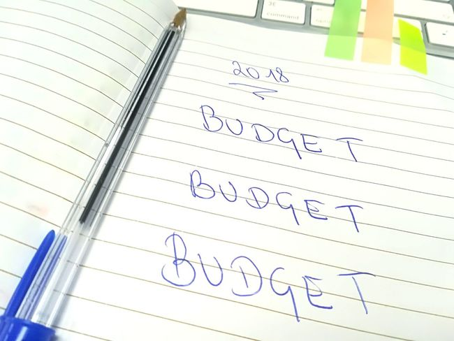 Jahr 2018 Budget Budget Budget 2018 Notiz Budget Notice Notice Handwriting Notice Budget Handwriting  Text Paper Indoors  No People Day Close-up