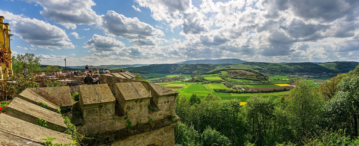 View from Schloss Rothestein Bad Sooden-allendorf Castle Hessen Germany Vantage Point Architecture Building Exterior Built Structure Cloud - Sky Day Gilsaburg Green Color History Landscape Nature Osterburg Outdoors Scenics Schloss Rothestein Travel Destinations Viewpoint Kleinvach