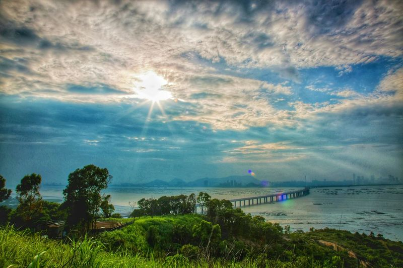 Nature On Your Doorstep 耶穌光二重奏 Sunrays Duet Sunrays_penetrating_clouds Sunrays&shimmering Water Sunrays Landscapes Sunset And Clouds  Sunset Sea And Bridge Paradise
