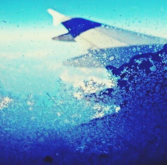 Flight To Boston Wintertime Icy Window From The Plane Window Jetblue Icewatch