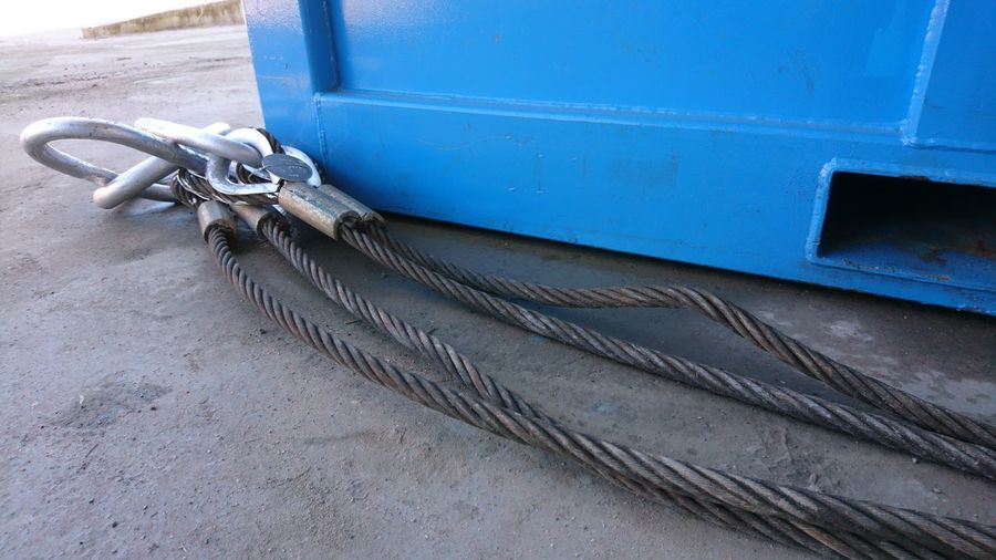 Wire rope Sling Wirerope Wire Rope Wire Rope Hoist Container Offshore Container EyeEm Selects Close-up
