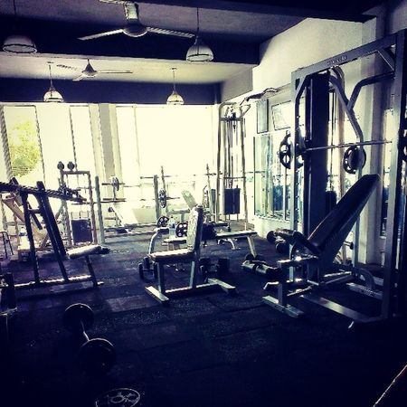 Going Ghetto...keeps me humble. GhettoGym HardKnocks AsweatAday Fitness brokeAsAss