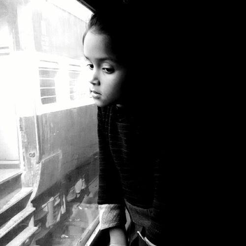 Kid Window Outside Train