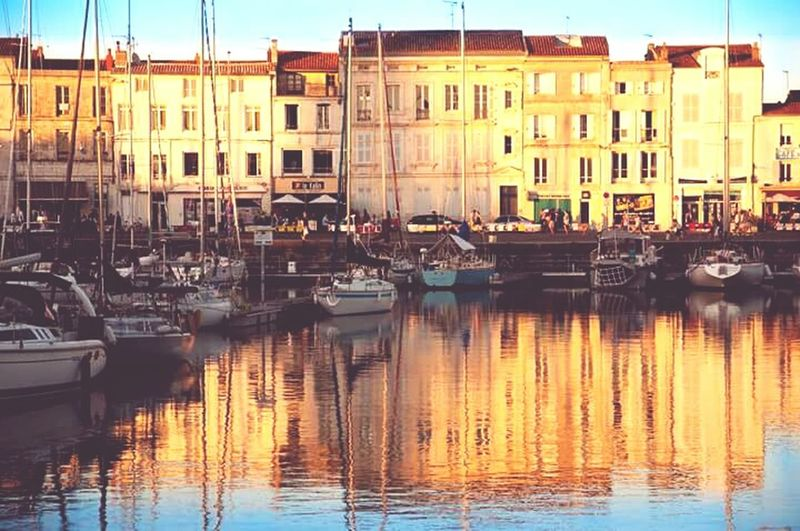 La Rochelle, France Reflection Water Reflections Sunset