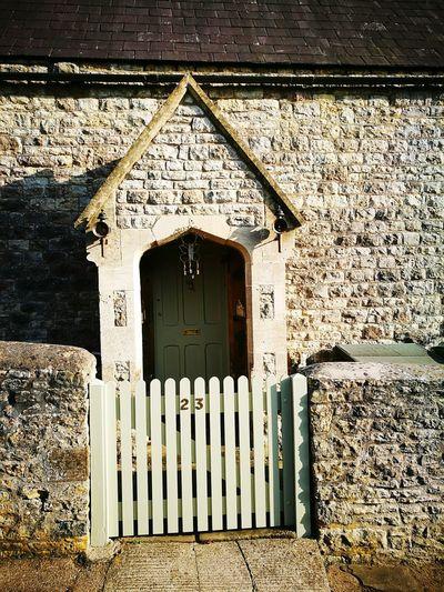 Built Structure Day Architecture No People Outdoors Front Porch Quaint Front Porch Cotswold Stone Porch