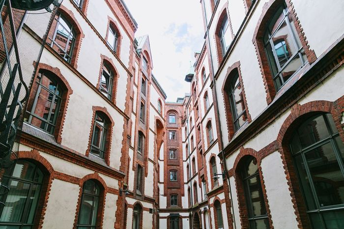 •HH• Architecture Building Exterior Window Built Structure Low Angle View City Building Sky Day Arch Outdoors City Life No People Old Town Apartment Building Story Diminishing Perspective Hamburg Speicherstadt Tadaa Community