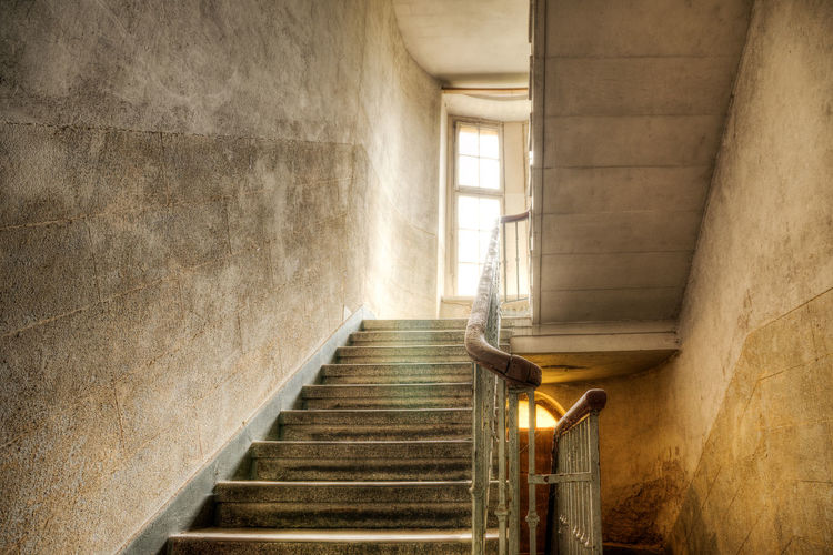 Orange Shine Stairs Wall Architecture Background Black Built Structure Day Grey Hand Rail Illuminated Indoors  Light And Shadow No People Ruin Sepia Stages Staircase Steps Steps And Staircases Texture White Window Yellow EyeEmNewHere Visual Creativity A New Beginning Capture Tomorrow