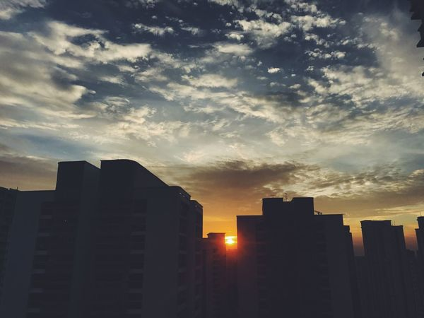 LSmoments Sunset Beauty In Nature Sky City Urban Skyline