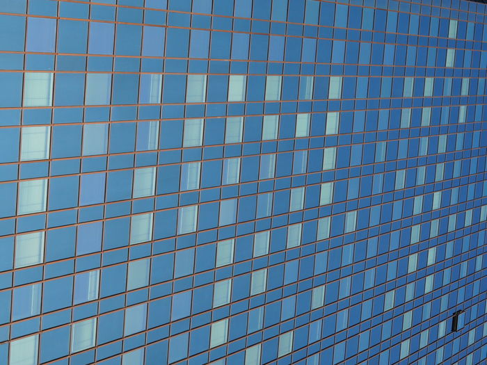 Architecture Backgrounds Blue Building Exterior Built Structure City Clear Sky Close-up Day Financial District  Full Frame Glass - Material Low Angle View Modern No People Outdoors Pattern Reflection Repeating Patterns Repetition Sky Window Windows The Graphic City