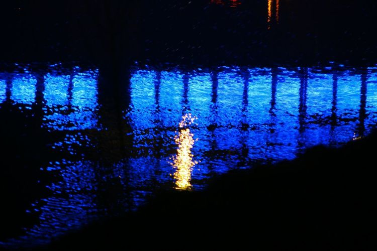 Water Reflection Blue Night Illuminated No People Architecture Outdoors