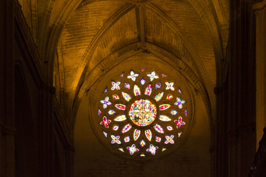Catedral de Sevilla - october2015 || Glass Art Colors Church Citybycity Eye Em Around The World Sevilla SPAIN