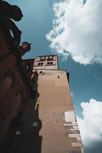 Cloud - Sky Sky Architecture Low Angle View Built Structure Nature Building Exterior Outdoors Travel Travel Destinations Shadow Tower No People History Wall Tall - High Sunlight Day Building The Past
