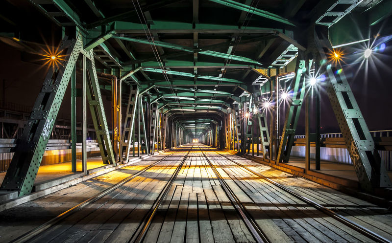 WARSAW/DISTRICT ŻOLIBORZ/GDAŃSKI BRIDGE/FULLCOLOR Vanishing Point City After Dark Nightphotography Long Exposure Night Lights Warsaw Poland Check This Out Street Photography Colors