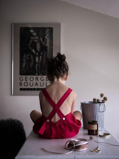 Little girl on