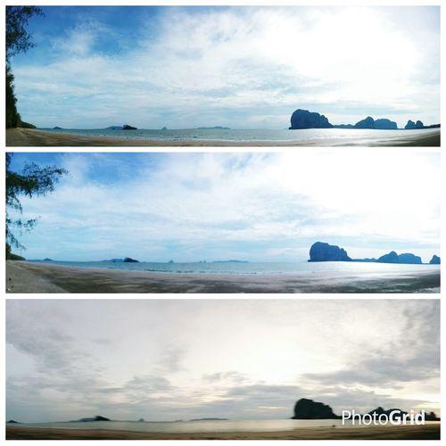 Beach Trang Andaman Souththailand Sunset Sky And Clouds
