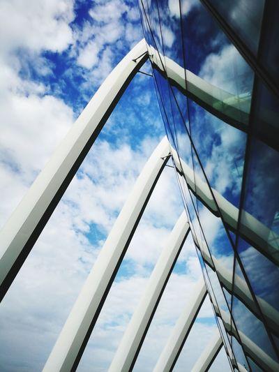 blue sky Cloud - Sky Girder Steel Sky Architecture