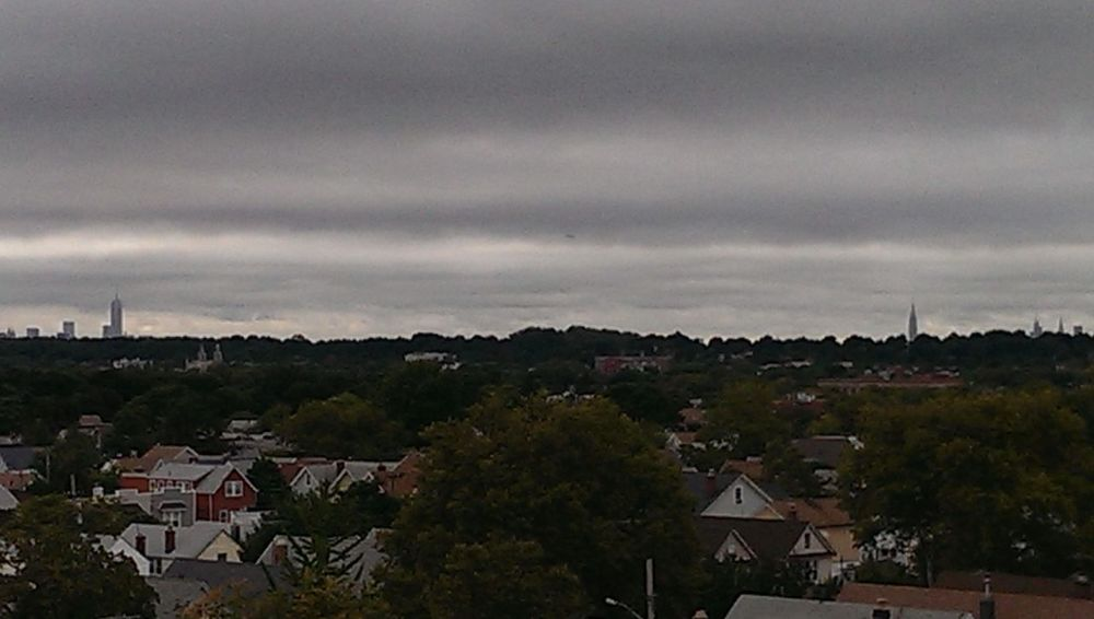Up on the roof this morning,so i took a pix of nyc about 8 miles away from my location on this cloudy cool day! Up On The Roof