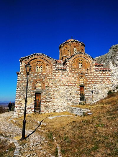History Ancient Architecture 600 Years Old Holy Trinity Church Day Architecture Architecture_collection Outdoors Clear Sky Sunlight World Heritage Berat, Albania Albania UNESCO World Heritage Site Medieval Architecture Medieval Medieval Church Medieval Architecture. Scenics Architecture Facade Church Church Exterior Blue Sky Nature Minimalist Architecture