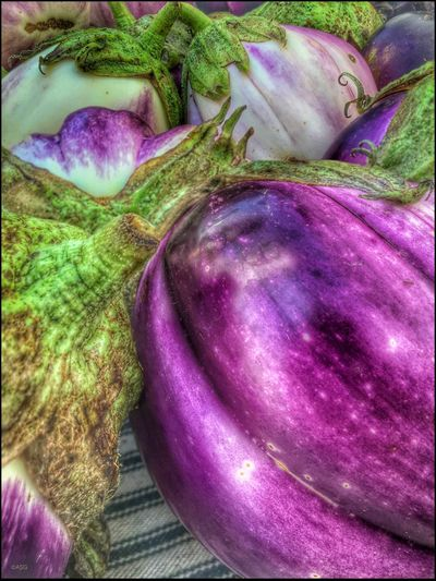 While visiting the Farmers Mkt. - 7/23/16 As I Sees It Eggplant Yummmmm EyeEm Close-ups EyeEm StreetPhotography, NYC Fresh On Market July 2016 IPhone Creative Edits W/ Snapseed Malephotographerofthemonth Opportunistic Images On The Go