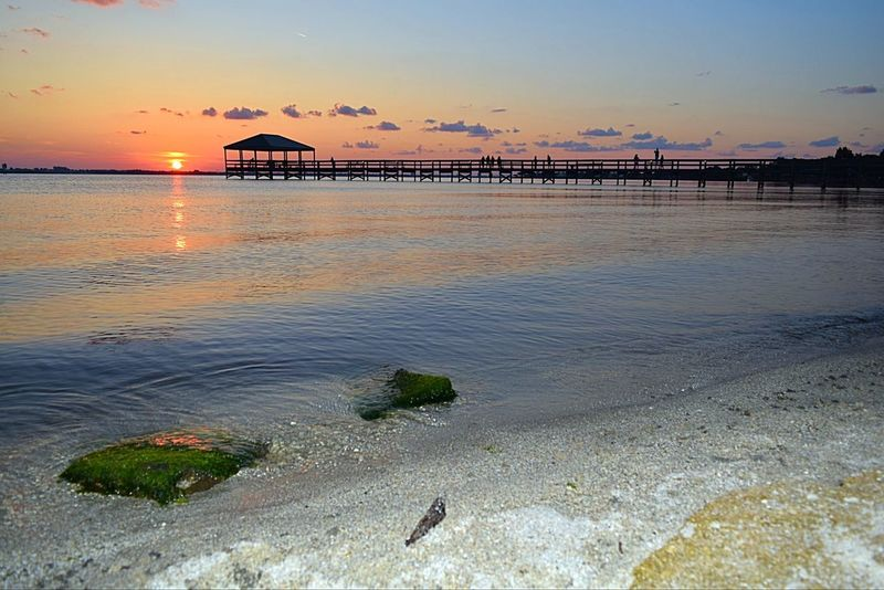 Indialantic, FL Pier Tonight's Sunset Beautiful Sunset My View Sun Going Down Sunrise And Sunsets Hello World Taking Pictures Pier Enjoying The View EyeEm Gallery Sunset EyeEm Nature Lover Nikon D3300 Nature On Your Doorstep Landscape Sunset Silhouettes Silhouette Water Reflections Sunset Glow Beautiful Peace And Quiet The Essence Of Summer
