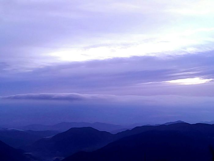 1538 Mountains and Clouds. early Morning. Mountain View Morning Sky Talking Pictures Enjoying Life! 富士見台高原 Japan